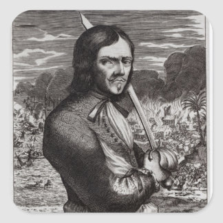 Francois Lolonois, General of the French Square Sticker