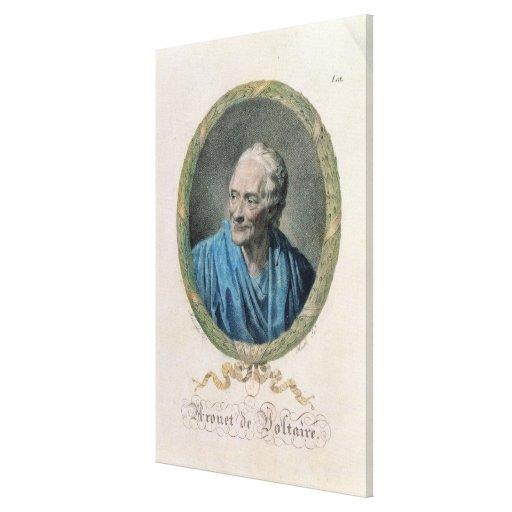 Francois Marie Arouet de Voltaire (1694-1778) engr Canvas Prints
