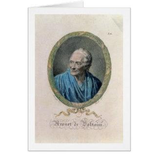 Francois Marie Arouet de Voltaire (1694-1778) engr Greeting Card