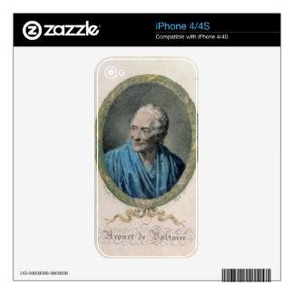 Francois Marie Arouet de Voltaire (1694-1778) engr iPhone 4S Decal