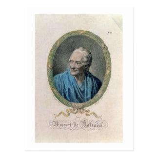 Francois Marie Arouet de Voltaire (1694-1778) engr Postcard