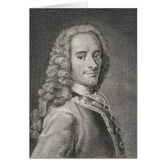 Francois Marie Arouet de Voltaire Greeting Card