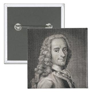 Francois Marie Arouet de Voltaire Pin Cuadrada 5 Cm