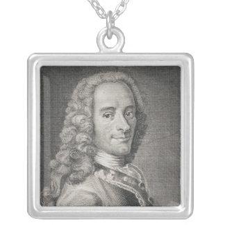 Francois Marie Arouet de Voltaire Silver Plated Necklace