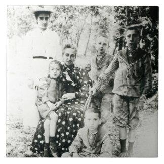 Francois Mauriac (1885-1970) como niño (foto de b/ Azulejo Cuadrado Grande