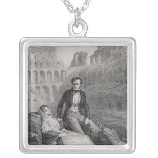 Francois Rene  Vicomte de Chateaubriand Silver Plated Necklace