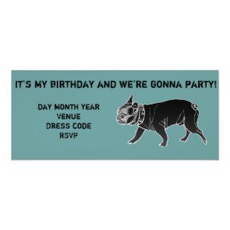 Francois the French Bulldog Birthday Invite
