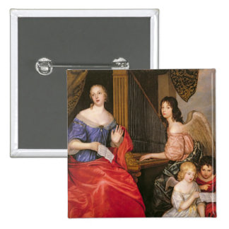 Francoise Louise Duchess La Valliere with 2 Inch Square Button