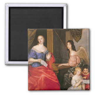 Francoise Louise Duchess La Valliere with 2 Inch Square Magnet