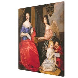 Francoise Louise Duchess La Valliere with Canvas Print