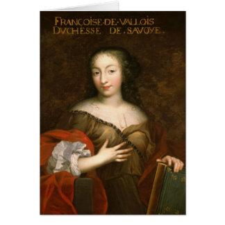 Francoise-Madeleine d'Orleans  Duchess of Savoy Card