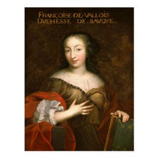 Francoise-Madeleine d'Orleans  Duchess of Savoy Postcard