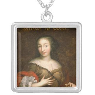 Francoise-Madeleine d'Orleans  Duchess of Savoy Square Pendant Necklace