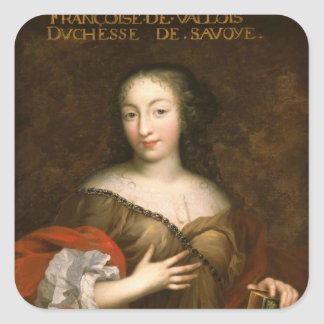 Francoise-Madeleine d'Orleans  Duchess of Savoy Square Sticker