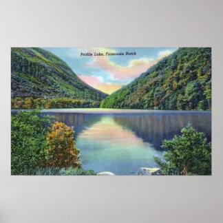 Franconia Notch View of Profile Lake Poster