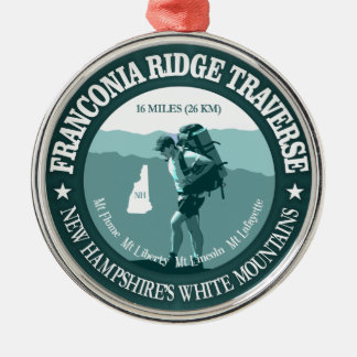 Franconia Ridge Traverse Metal Ornament