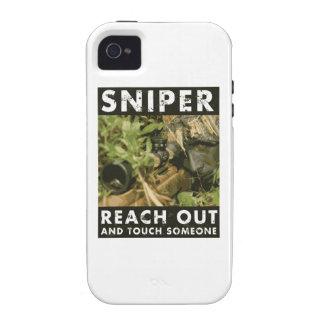 Francotirador - alcance hacia fuera iPhone 4 carcasa