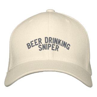 Francotirador de consumición de la cerveza gorra de beisbol bordada