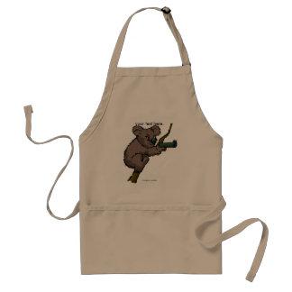 Francotirador del oso de koala delantal