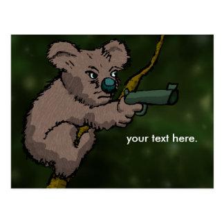 Francotirador del oso de koala postales