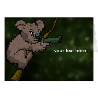 Francotirador del oso de koala tarjeta pequeña