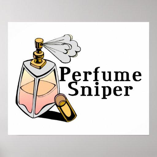 Francotirador del perfume impresiones