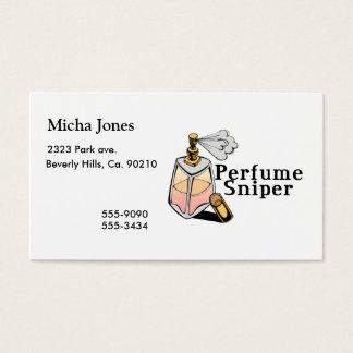 Francotirador del perfume tarjetas de visita