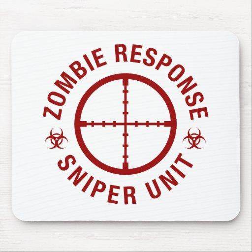 Francotirador del zombi tapete de ratón