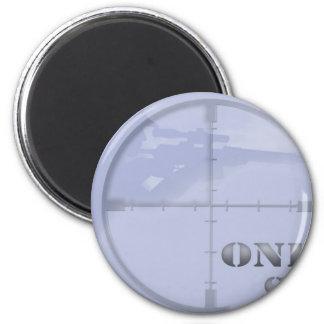 francotirador imán redondo 5 cm