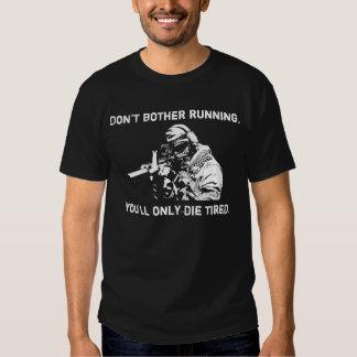 Francotirador - no moleste el correr poleras