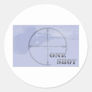 francotirador pegatina redonda