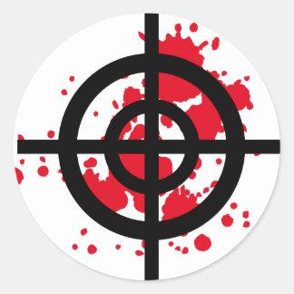 francotirador sangriento de la blanco pegatina redonda