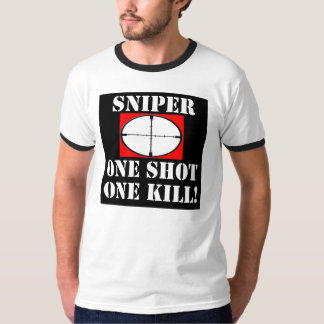 ¡Francotirador - uno tiró una matanza! Playera