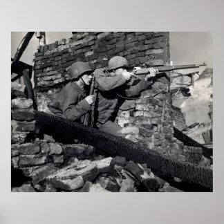 Francotiradores del holandés de WWII Posters