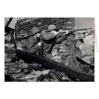 Francotiradores del holandés de WWII Tarjeta De Felicitación