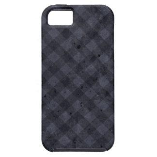 Franela a cuadros de los azules marinos iPhone 5 Case-Mate cobertura