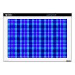 Franela azul de la tela escocesa calcomanía para 43,2cm portátil