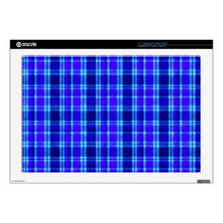 Franela azul de la tela escocesa skins para 43,2cm portátiles