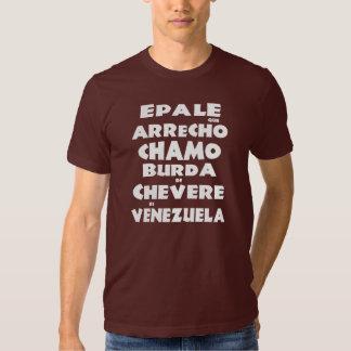 Franela Epale que arrecho chamo Venezuela Blanco Playera