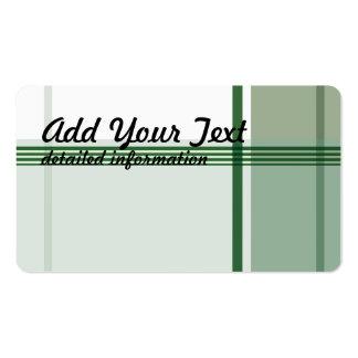 Franela verde 1 tarjetas de visita