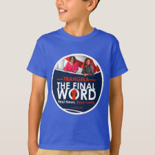 Frangela - The Final Word Kid's T-shirt round logo