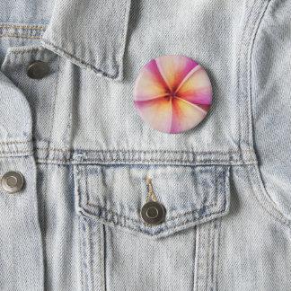 Frangipane Flower Badge Pinback Button