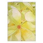 Frangipani amarillo limón tarjeta de felicitación