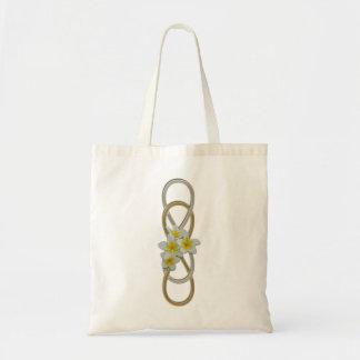 Frangipani bicolor del infinito doble bolsas lienzo