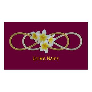 Frangipani bicolor del infinito doble tarjetas de visita