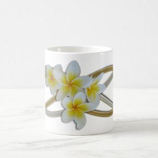 Frangipani bicolor del infinito doble taza clásica