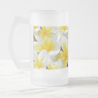 Frangipani_Bouquet_Big_Frosted_Glass_Beer_Milk_Mug Frosted Glass Beer Mug