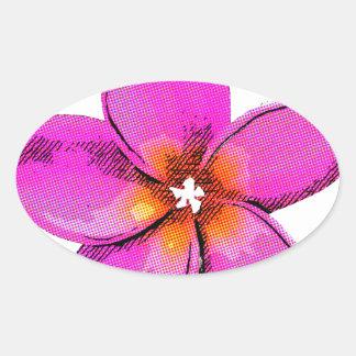 Frangipani Bright Oval Sticker