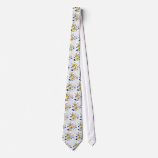 Frangipani Drawing Neck Tie