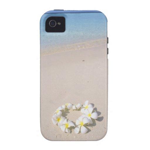 Frangipani en la playa iPhone 4/4S funda